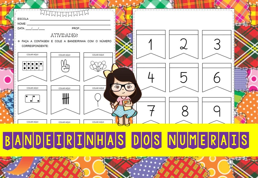 Atividade relacionando número e quantidade