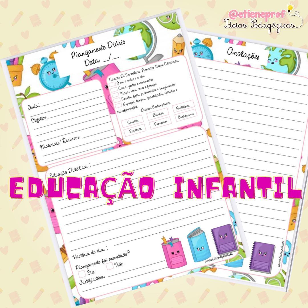 Ficha de planejamento para educação infantil